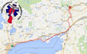 The Ontario 2017 Paramedic Ride Route Map